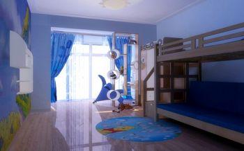 儿童房窗帘现代中式风格装修图片