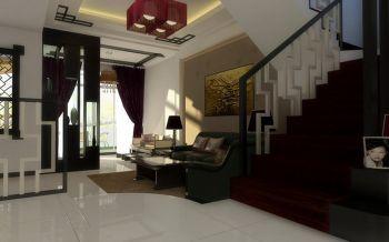 客厅楼梯现代中式风格装饰图片