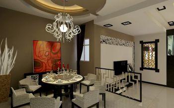 餐厅吊顶现代中式风格装潢图片