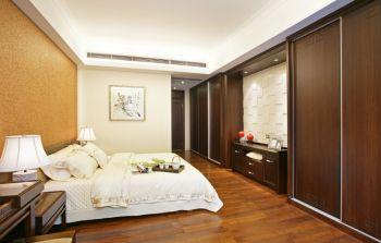 现代中式风格110平米三居室房子装修效果图