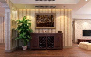 玄关米色背景墙美式风格装饰效果图