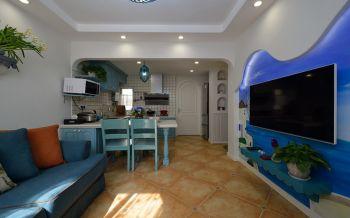 地中海风格80平米园博湾二居室装修效果图