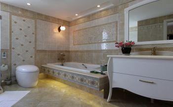 卫生间浴缸田园风格装修图片