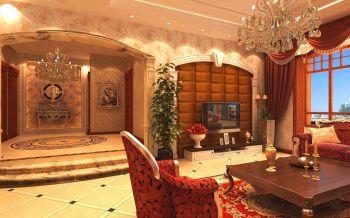 客厅黄色走廊美式风格装潢图片