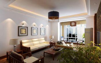 中式风格90平米两居室房子装修效果图