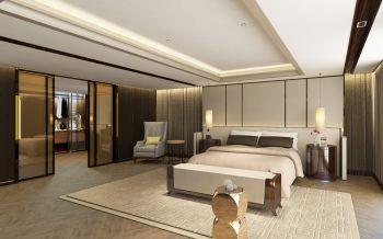 卧室米色推拉门混搭风格装饰设计图片