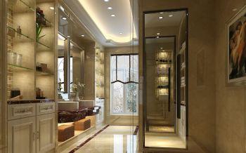 卫生间白色隔断简欧风格装饰设计图片