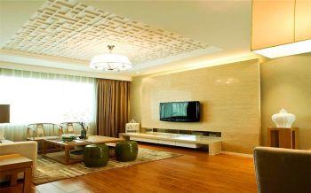 简中风格90平米二居室房子装修效果图
