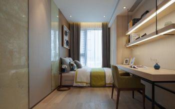 儿童房咖啡色窗帘现代简约风格装饰效果图