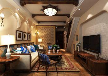 美式风格70平米小户型房子装修效果图