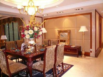 欧式风格110平米三居室房子装修效果图