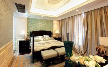 卧室黄色窗帘室内装修设计