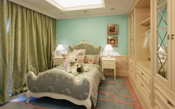 2020欧式儿童房装饰设计 2020欧式窗帘装修图