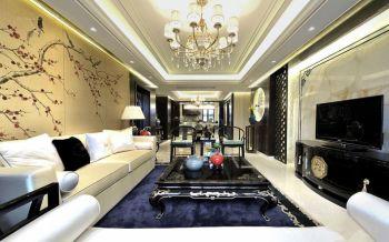 现代中式风格110平米二居室房子装修效果图