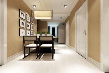 餐厅黄色照片墙现代风格效果图