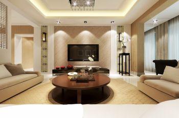 客厅黄色背景墙现代风格装修效果图