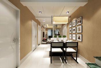 餐厅黄色照片墙现代风格装潢效果图