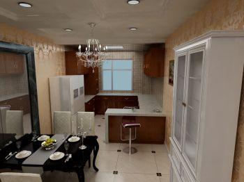 厨房简欧风格装修设计图片