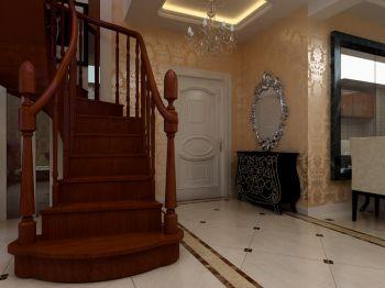 玄关楼梯简欧风格装饰设计图片