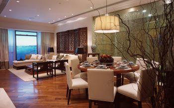 餐厅白色吊顶中式风格装修设计图片