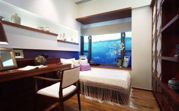 卧室白色飘窗中式风格装潢设计图片
