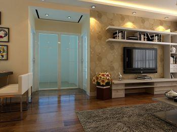 客厅黄色走廊现代简约风格装修设计图片