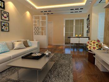 客厅黄色细节现代简约风格装饰设计图片