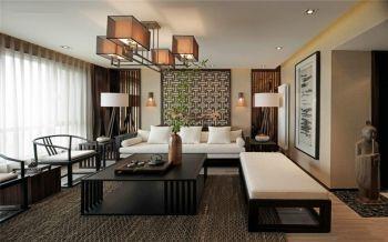 中式风格110平米二居室房子装修效果图
