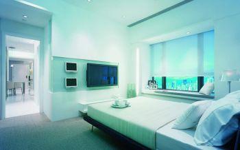 现代简约风格110平米二居室房子装修效果图