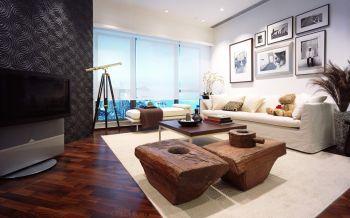 8万装修预算120平米两室一厅装饰效果图欣赏