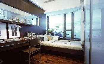 卧室书桌现代简约风格装修图片