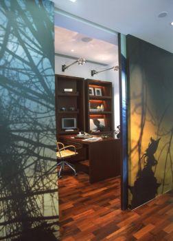 书房推拉门现代简约风格装饰图片