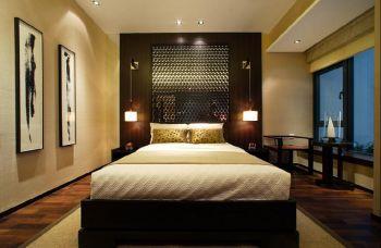 新中式风格110平米三居室房子装修效果图