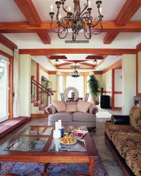 客厅吊顶东南亚风格装饰图片
