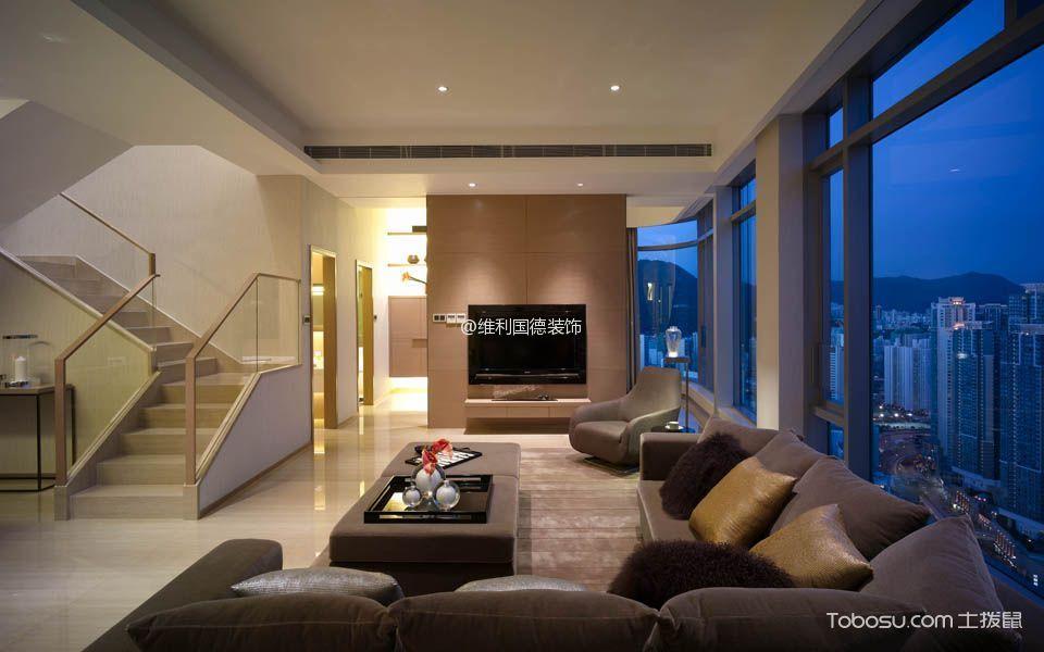 客厅 吊顶_现代简约风格160平米别墅装修效果图