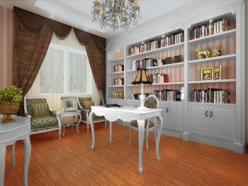 书房窗帘北欧风格装饰图片
