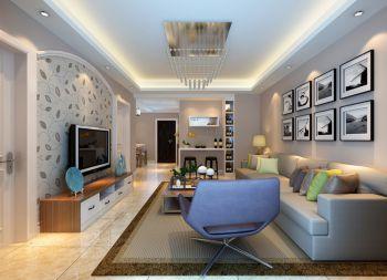 现代简约90平米两居室房子装修效果图