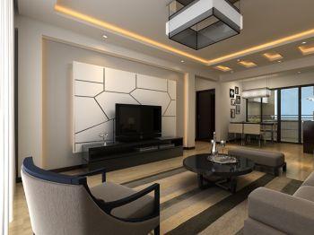 现代简约风格70平米二居室装修效果图