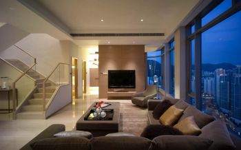 现代简约风格160平米别墅装修效果图