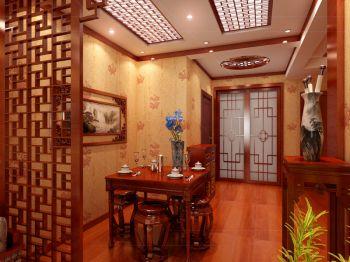 华丽中式古典黄色屏风隔断家装设计
