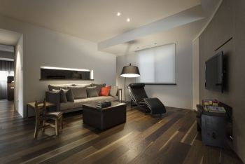 摩登灰色客厅装修设计