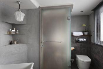卫生间灰色背景墙室内装修设计