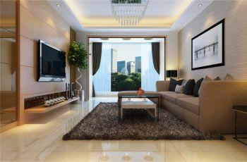 客厅米色细节现代风格装潢设计图片