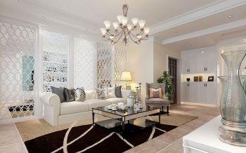 法式风格90平米两居室房子装修效果图