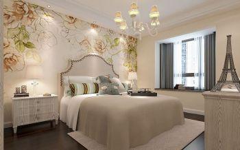 卧室灰色飘窗法式风格装修设计图片
