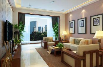 新中式风格160平米三居室房子装修案例图