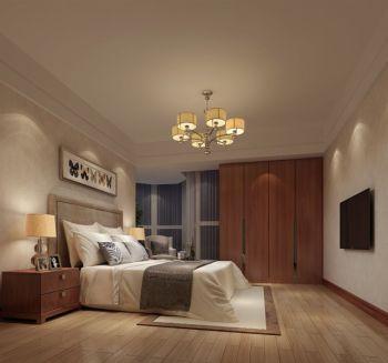 卧室黄色衣柜中式风格装饰效果图