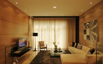 2020现代简约客厅装修设计 2020现代简约窗帘装修图