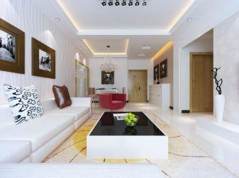 现代简约风格90平米世纪城时尚二居室家装案例图