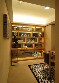 現代簡約書房屏風隔斷設計方案